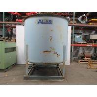 Carbon Steel 2000 Gallon Open Top  Dome Bottom Storage Tank