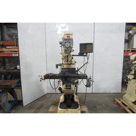 Bridgeport 1-1/2Hp Vertical Turret Milling Machine W/Power Feed & Readout