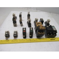 Fuji Omron G2A-432A H3Y Timing Relay And Relay Misc., Lot Of 16 Pieces See Info
