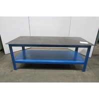 "Steel Welding Work Bench Fabrication Layout Table 84""x36""x32""H 3/8"" Thick Top"