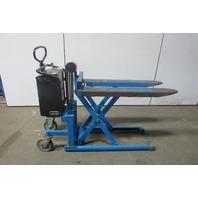 Bishamon LV100E Scissor Lift Skid Pallet Load Positioner Transporter 2200LBS 12V