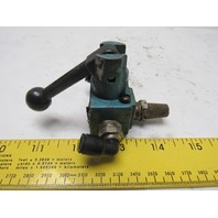 "MAC 1113A-021 3 Way Lever Actuated Pneumatic Air Valve 1/4"" NPT"