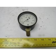 """US Gage 2-1/2"""" Low Pressure Gauge 0-32 oz/sq. in 1/4"""" NPT"""