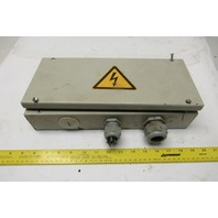 "16"" x 6"" x 4"" Screw Cover Electrical Junction Box W/ Terminal Strip"