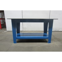 "H.D. 1/2"" Thick Top Steel Fabrication Layout Welding Table Work Bench 60"" x 30"""