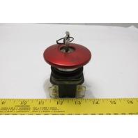 Allen Bradley 800T-E15 Ser T Reds Mushroom Head Push Button W/Key