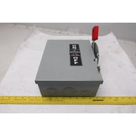 General Electric THN3361 600VAC 250VDC 30A 3 Pole Type 1 Safety Switch