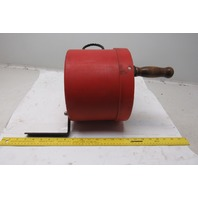Industrial Pedestrian Barrier Tape Wind Up Self Contained Bucket Stop Strip