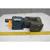 Sew DFT80N4 5.3:1 Ratio 230/460V 3Ph 1Hp 320RPM Output Inline Gear Motor