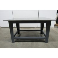 "H.D. 3/4"" Thick Top Steel Fabrication Layout Welding Table Work Bench 59"" x 40"""