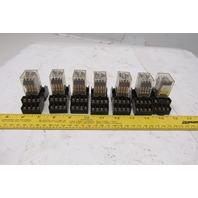 Honeywell SZR-MY4-N1 24VDC Relay And Socket Lot Of 7