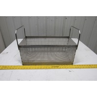 """Heavy Duty Stainless Steel Parts Washer Dip Basket 19-1/4Wx9-1/4Lx8-1/2""""T"""