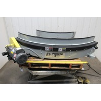 "Portec 28A19-90DEG 18"" Width 90° Right Curve Conveyor 230/460V 1Hp 79FPM Outside"