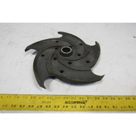 "Gusher 25117-6 PCL2X3-13 5 Vane 13"" Pump Impeller Cast Iron"