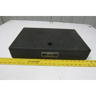 "Standridge Black Granite Surface Inspection Plate 18"" X 12"" X 3"" W/1"" Thru Hole"