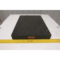 "RAHN Black Granite Surface Inspection Plate 24"" X 18"" X 3"""