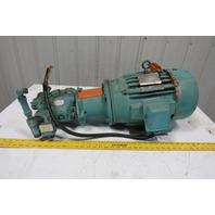 Vickers PV032B2R SS1S Hydraulic Pump W/3Hp AC Delco Electric Motor 460V 3 Ph