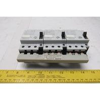 Siemens (1) 3VU1300-1NH00 & (2) 3VU1300-1MG00 Motor Starter W/Buss Connector