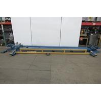 Gorbel 1/2 Ton Ceiling Mounted Bridge Crane 15' Span x 35' Run W/Push Trolley