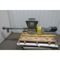 "Comtrac 1Hp 208-460V Bulk Dry Parts Material 3"" Screw Horizontal Auger Conveyor"