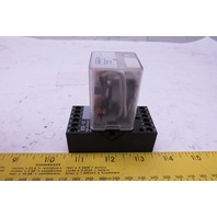 Dayton 5YP85N 277VAC 16A Max 1/2 Hp 24VDC Coil Relay With Socket
