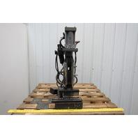 "Vintage Cast iron C frame Pneumatic Punch Press 3-1/2"" Throat 4"" Stroke"
