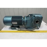 Sew Eurodrive DFT100L4BMG4HRTH 13.52:1 Ratio 124 RPM 5 Hp 230/460V Gear Motor