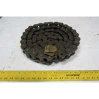 "Rex 24B-1 Metric  Single Strand Riveted Roller Chain 10' 1-1/2"" Pitch"