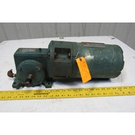 Reliance 56WM16A 50:1 Ratio 35 RPM 3/4Hp 230/460V Dual Output Winch Gear Motor