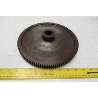 """9"""" OD 114 T 28mm Smooth Bore Spur Gear 1/4"""" Pitch With Dog Clutch See Info"""
