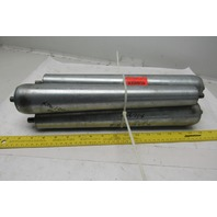 "14-1/2"" Face 1.69"" x 2-1/2"" Tapered Gravity Conveyor Roller Lot Of 4"