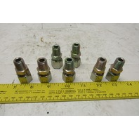 "Hatec A10LNPT 10-L x 1/4"" Male NPT Stud Coupling Hydraulic Fitting Lot of 7"