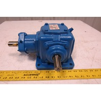 Morse 6M 1-LR-0 1:1 Ratio Dual Output Right Angle Gearbox 22Hp 1750RPM MAX