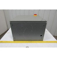 "Hoffman CSD242416 Electrical Enclosure 24x24x16"" W/Backplate &30A 3P Disconnect"