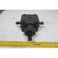 """1:1 Ratio 1-1/4"""" Dual Output Shaft Right Angle Gearbox"""