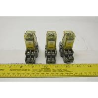 Idec RH2B-UL 110-120V Ice Cube Relay 120V Coil W/ Socket Lot of 3