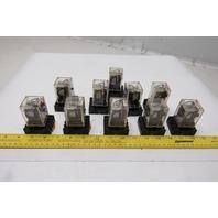 Omron MK2P-S 250VAC 28VDC Ice Cube Relay W/ Socket Lot Of 10