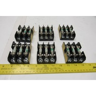 Cooper BC6033S Bussmann 30A 600V Class CC Fuse Block Fuse Holder Lot Of 6