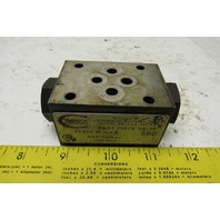 Continental Hydraulics VCDP5-M-G-A Pilot Operated Check Valve Sandwich Module