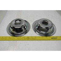 "CPS-6 MP15MA 6"" Chrome Range Burner Element Drip Bowl Lot Of 2"