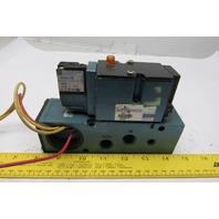 MAC 82A-AC-000-TM-DAAP-1DA Solenoid Valve W/82S-OA-CKA Manifold Block 110-120V