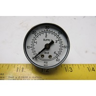 "0-60 PSI 0-4 Bar 1-5/8"" Air Pressure Gauge 1/4"" NPT"