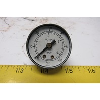 "0-60 PSI 0-4 Bar 1-5/8"" Output Pressure Gauge 1/4"" NPT"