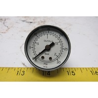 "0-30 PSI 0-2 Bar 1-5/8"" Output Pressure Gauge 1/4"" NPT"