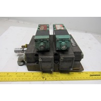 Numatics 152SA400K046T 4/2 Position Single Solenoid Valve Bank Manifold