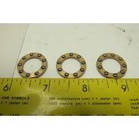 "338 Type B355 9/16"" ID 7/8"" OD Flat Thrust Bearing Lot Of 3"