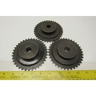 """Martin 35B36 #35 Single Row Roller Chain Sprocket 36T 5/8"""" Unfinished Bore Lot/3"""