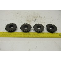 """Martin 35BS19 #35 Single Row Roller Chain Sprocket 19T 1"""" Bore Lot Of 4"""