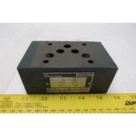 Bosch D 811 020 027 Hydraulic Sandwich Check Valve 4500PSI