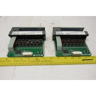 Allen Bradley 1746-OV16 Ser C SLC 500 16 Channel DC Sink Output Module Lot Of 2